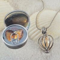 1 Set Love Wish Pearl Necklace Set Oyster Drop Pendant