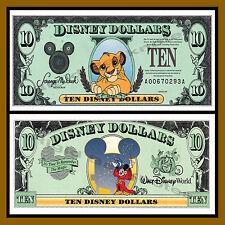 "Disney 10 Dollars, 1997 Series ""AA"" Disneyland Simba Uncirculated"