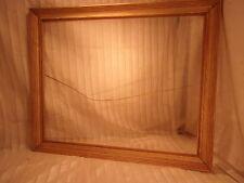 Vintage mid century modern OAK frame 34 1/2 x 28 1/2  30x24  molding 2 1/2