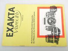 EXAKTA Varex II b Prospekt Bedienungsanleitung Anleitung A5 10 S. pages