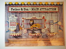 VTG PUZZLE FATHER & SON MAIN ATTRACTION GREATEST BOYS SHOES ADVERTISEMENT LION