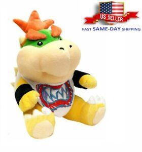"Super Mario Bros Koopa Bowser Jr TV Series Plush Toy Doll Gift Stuffed Animal 7"""