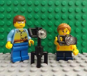 LEGO Brand New Mini Figure Man Lady Holiday Makers Camera Photographer Bikini