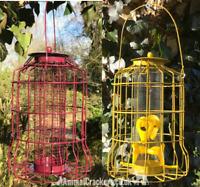 Wild Bird HEAVY DUTY Squirrel Proof metal SEED & NUT feeders BUY PAIR AND SAVE £