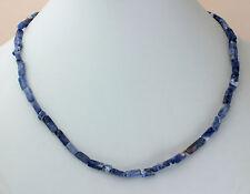 Sodalith Kette Edelsteinenkette,45cm Lang,Quader,Halskette,Schmuck,collier,Blau