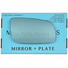 For Seat Leon 99-03 Right Driver side Blue wing mirror glass with plate