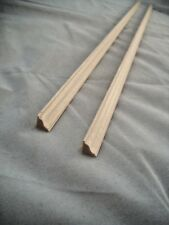 Ogee #3 molding basswood dollhouse miniature trim 2pc.1/12 & 1/24 Scale