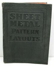 Sheet Metal Pattern Layout Book 1942 Leather Cover Welder Welding