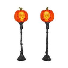Dept 56 Halloween 2013 Evil Pumpkin Lampposts Set/2 #4033847 Nib Free Shipping