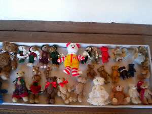 A COLLECTION  OF  SMALL  TEDDY  BEARS(SOME  VINTAGE)