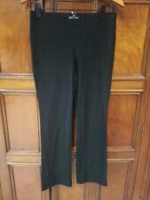New PS EILEEN FISHER Elastic Waist Crepe Knit Bootcut Pants black stretch NWT