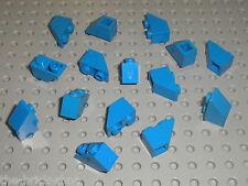 15 x LEGO blue Slope Brick ref 3665 / Set 6985 10177 733 8018 4425 4483 6363 ...