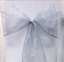 1 10 25 50 100 Organza Sashes Chair Cover Bow Sash BOW  BOWS Wedding Party UK