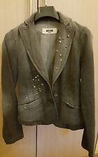 Giacca Moschino Jeans originale nuova tg S 40 42 grigio nero brillantini tasche