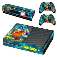 XBOX ONE Skin Decal Cover Kinect 2 Controllers DRAGON BALL Z SON GOKU