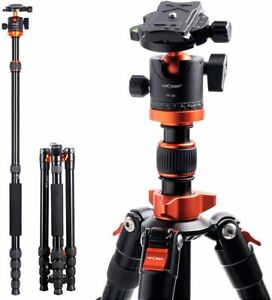 K&F Concept 67'' Lightweight Aluminum Camera Tripod Monopod with 360° Ball Head