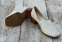 Rangoni Firenze Italy Made Women's Sz 9.5 / 41 Cream White Perforated Shoes