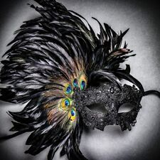 Venice Carnival Feather Masquerade Mask Venetian Mardi Gras Party Mask For Women