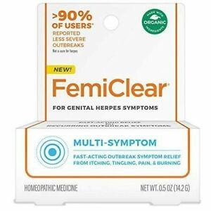 FemiClear Genital Herpes Multi Symptom Relief - 0.5oz