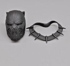 "1/6 Captain America: Civil War Black Panther Head & Neck Armor for 12"" Figure"