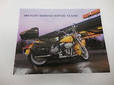 2000 Harley-Davidson FLSTC Heritage Softail Classic 1 Page Dealer Promo Sheet