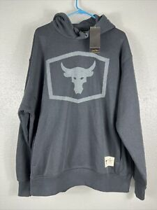 Under Armour UA Men's Project Rock Black Warm-Up Hoodie 1346067-001 NWT