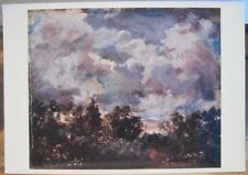 Art Postcard JOHN CONSTABLE Painting Study of Sky and Trees England UK Suffolk