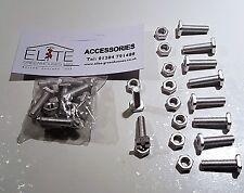 10 Elite Greenhouse Aluminium 22mm long Square Head bolts& nuts - Rust Free