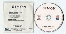 Simon - cd-PROMO - SAMBA SAMBA © 2014 - German-1-Track-CD - POP schlager