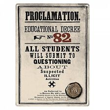 Harry Potter Proclamation... small metal sign 210mm x 150mm   (hb)