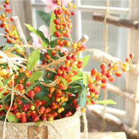 Fake Fruit Berries Artificial Glass Pomegranate Cherry Bouquet For Wedding Party