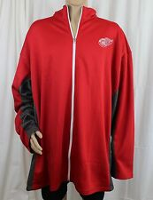 Detroit Red Wings Red Zippered Jacket 3XT Big & Tall Authentic NHL