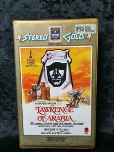 Stereo Gold RCA Columbia Lawrence Of Arabia CLAMSHELL VHS - Pal