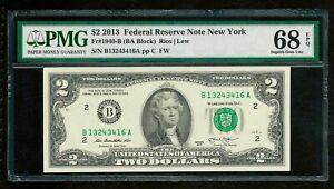 USA New York 2013 - $2 Dollars PMG Superb Gem UNC 68 EPQ - High Grade