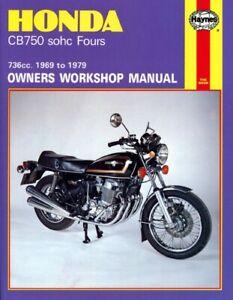Fits Honda CB 750 K SOHC EU 1969-1978 Manuals - Haynes