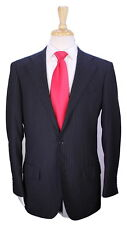 * RING JACKET *Japan Black w/ Gold Pinstripes 2B Slim Fit Handmade Wool Suit 40R