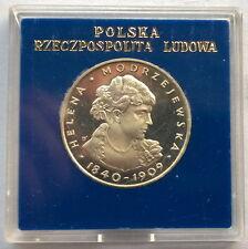 Poland 1975 Helena Modrzejewska 100 Zlotych Silver Coin,Proof