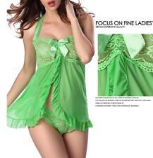 Lady Sexy Lingerie Sleepwear G-string Dress Underwear Babydoll Panties Nightwear