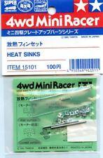 Tamiya 4WD Mini Racer Tune-Up Parts Heat Sinks Metal Detail 2 Pack #15101