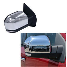 For 15-18 Ford F150 Power+Heated+LED Signal Chrome Side Mirror RH Passenger Side
