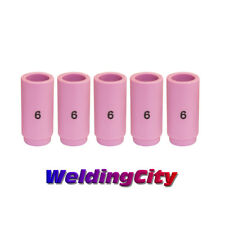 WeldingCity 10 Alumina Ceramic Cup Nozzles 13N10 #6 for TIG Welding Torch 9 20 and 25