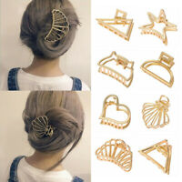 Fashion Women Geometric Metal Hairpin Bobby Barrette Claw Clip Hair Accessories