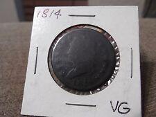 1814 Plain 4 Large Cent Very Good