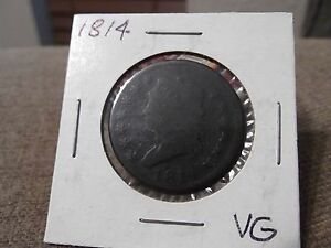 1814 PLAIN 4 LARGE CENT VERY GOOD