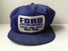 1970s FORD TRACTOR TRUCKER BASEBALL CAP HAT, STRALEY FARM SUPPLY, DOVER, PA