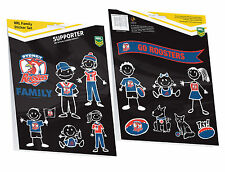 NRL SYDNEY ROOSTERS    FAMILY STICKER SET 14 STICKERS PER PACK BNIP