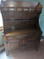 VTG Drexel Heritage American Traditional Pine Buffet & China Hutch No. 411-4