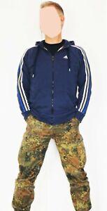 ADIDAS Hoody  Kapuzenpullover Kapuzen- Sweatshirt Sweatjacke Gr. M blau