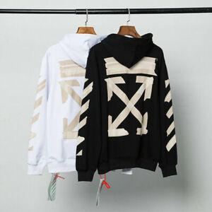 OFF-WHITE 20SS Arrow Streetwear Jumper Sweatshirt Activewear Men womenWHITEBLACK