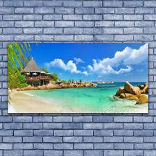 Impression sur verre acrylique Image Tableau 140x70 Paysage Plage Pierres Mer